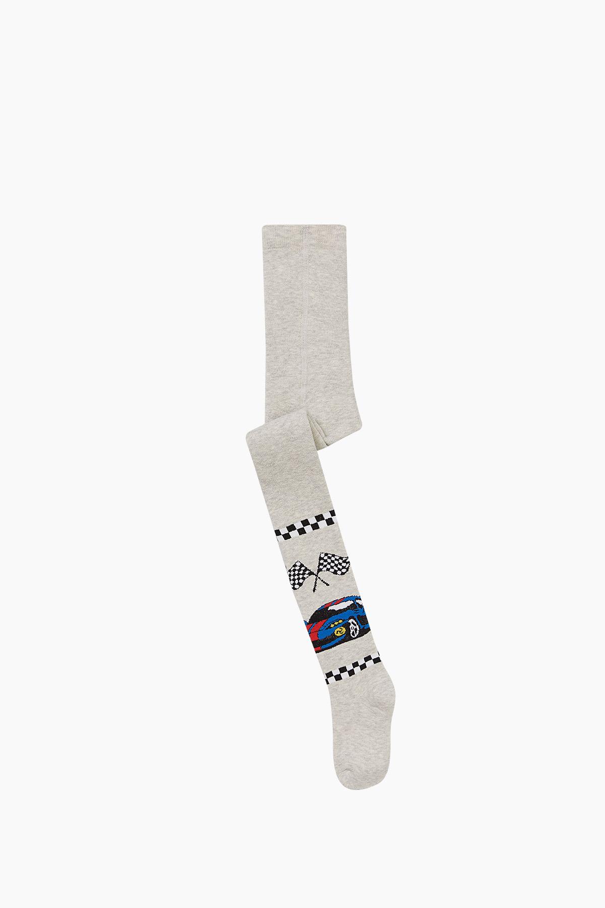 Bross - Auto Muster Handtuch Strumpfhosen für Kinder