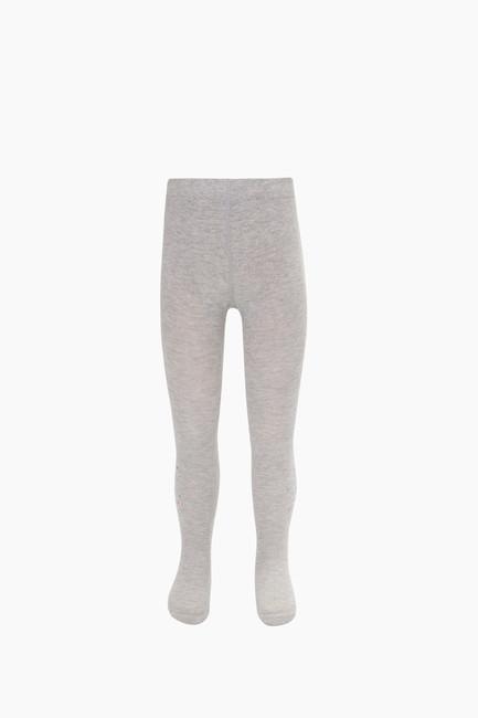 B Harfli Taş Baskılı Çocuk Külotlu Çorap - Thumbnail