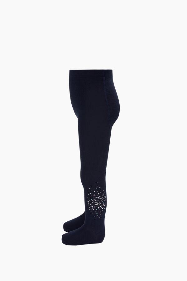 Bross B Harfli Taş Baskılı Çocuk Külotlu Çorap