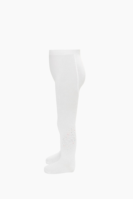 B Letter Stone Printed Kids Tights - Thumbnail
