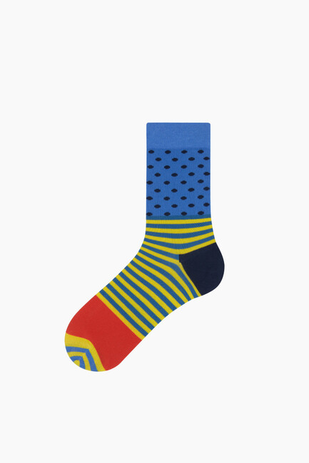 Bross - Bross Benekli Çizgili Erkek Çorabı