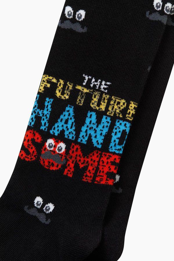 Bross Bıyık Desenli Çocuk Külotlu Çorap