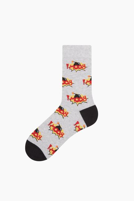 Bross - Boom Desenli Erkek Çorabı