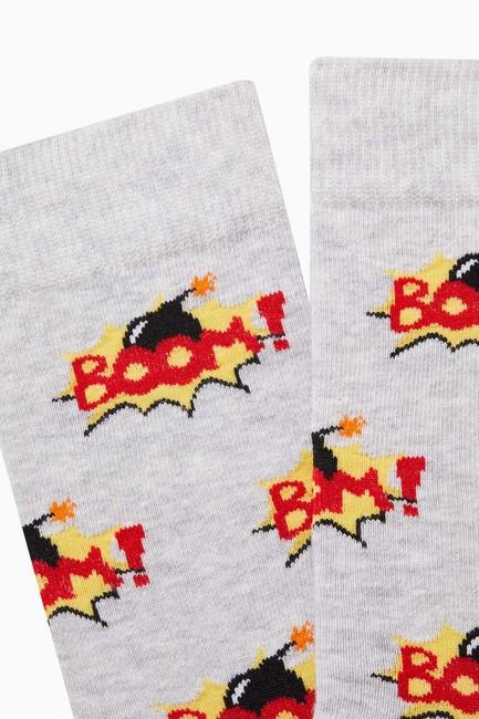 Boom Desenli Erkek Çorabı - Thumbnail