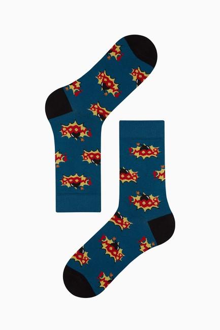 Bross Boom Desenli Erkek Çorabı Havacı - Thumbnail