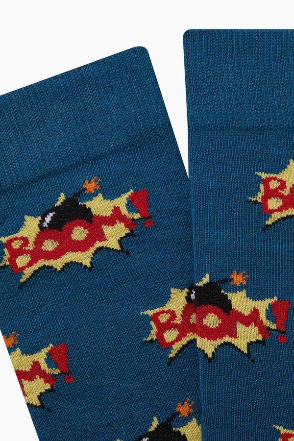 Bross Boom Desenli Erkek Çorabı Havacı