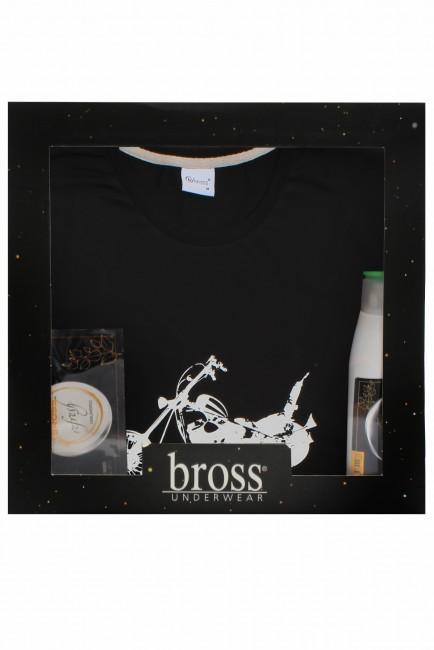 Bross - Boxed Short Sleeve Rider Patterned Men's Pyjamas