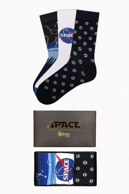 Bross - Boxed Space Collection 3-Pack Men Socks 2