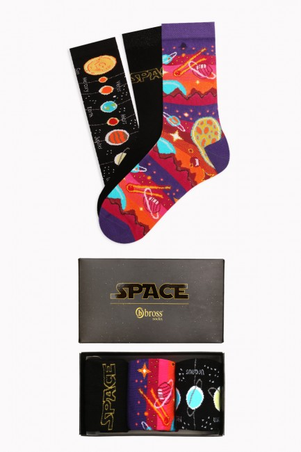 Bross - Boxed Space Collection 3-Pack Women's Socks 1