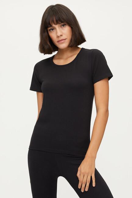 Bross - Bross 1254 Elastane Women's Basic T-Shirt