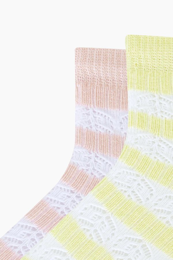Bross 2-Pack Net Women's Booties Socks