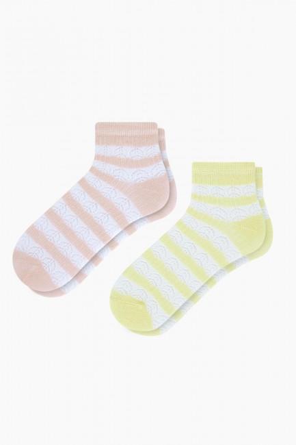Bross - Bross 2'li Fileli Kadın Patik Çorabı