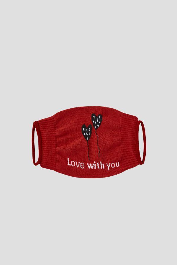 Bross 2'li Love With You Sevgililer Günü Yetişkin Çorap ve Çorap Maske Kombini