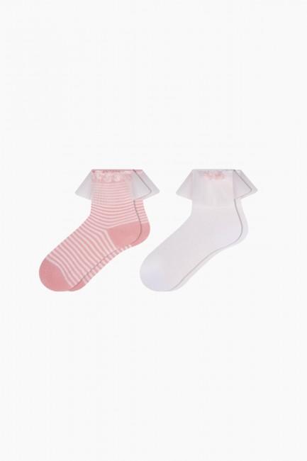 Bross - Bross 2'li Tüllü Bebek Çorabı