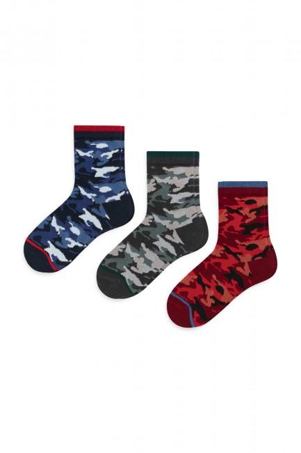 Bross - Bross 3-pack Camouflage Patterned Children's Socks