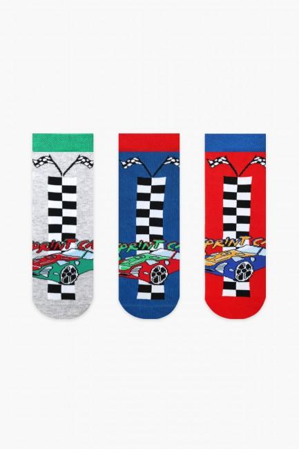 Bross - Bross 3-Pack Car Patterned Boys Socks
