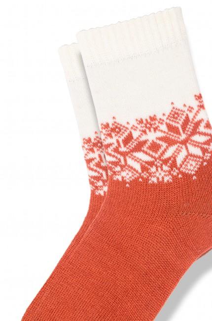 Bross - Bross 3-Pack Snowflake Patterned Wool Kids' Socks