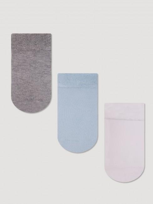 Bross - Bross 3-Pack Non-Slip Printed Towel Baby Socks