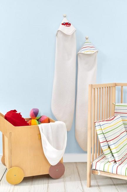 Bross - Bross 3-Piece Car Patterned Baby Towel Set