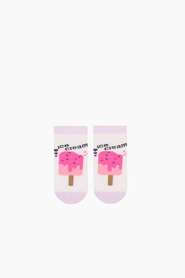 Bross 3-Piece Ice Cream Patterned Booties Kids Socks