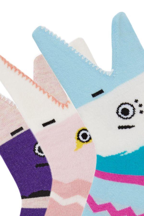 Bross 3'lü 3d Köpek Balığı Desenli Çocuk Çorabı