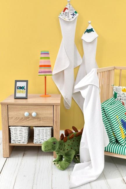 Bross - Bross 3-teiliges Baby-Handtuch-Set mit Dinosaurier-Muster