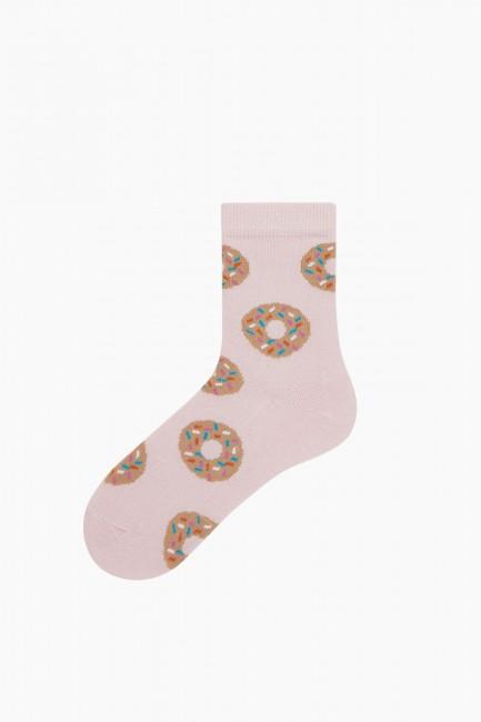 Bross 3'lü Donut Desenli Çocuk Çorabı - Thumbnail