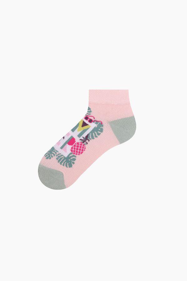 Bross 3'lü Eğlenceli Yaz Desenli Patik Çocuk Çorabı