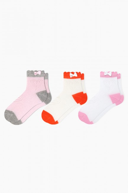 Bross - Bross 3-Pack Net Baby Socks With Accessory