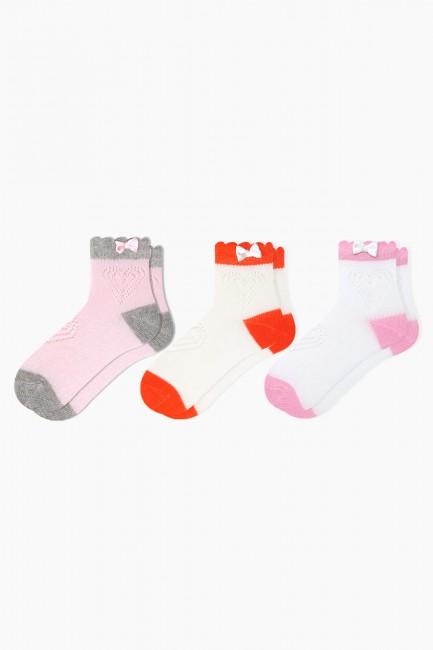 Bross - Bross 3'lü File Aksesuarlı Bebek Çorabı