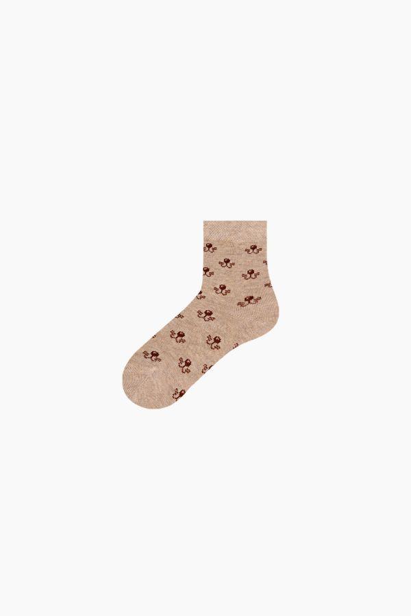 Bross 3'lü Kaplan Desenli Bebek Çorabı