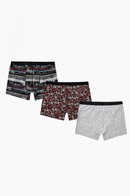 Bross - Bross 3-Piece Mixed Pattern Men's Boxer