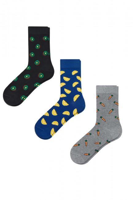 Bross - Bross 3'lü Karışık Desenli Erkek Çorabı