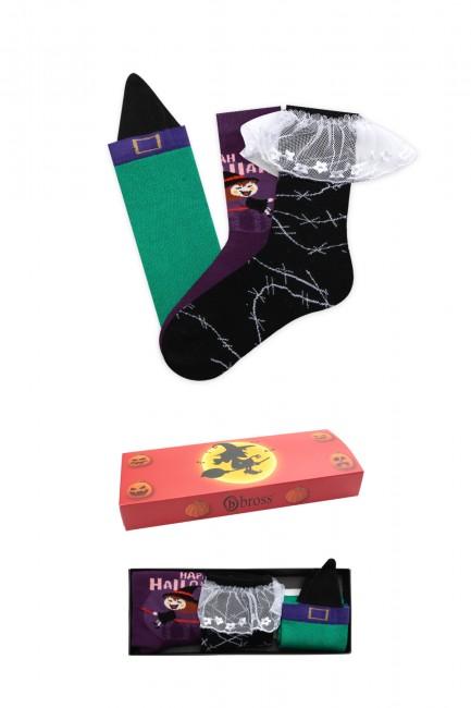 Bross - Bross 3-Pack Halloween Boxed Kids' Socks