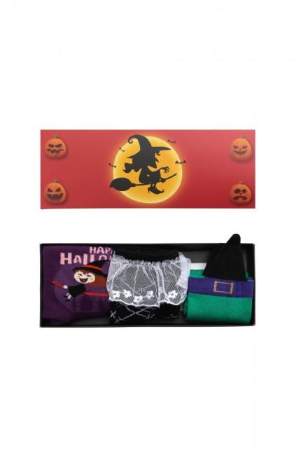 Bross - Bross 3'lü Kutulu Halloween Çocuk Çorabı