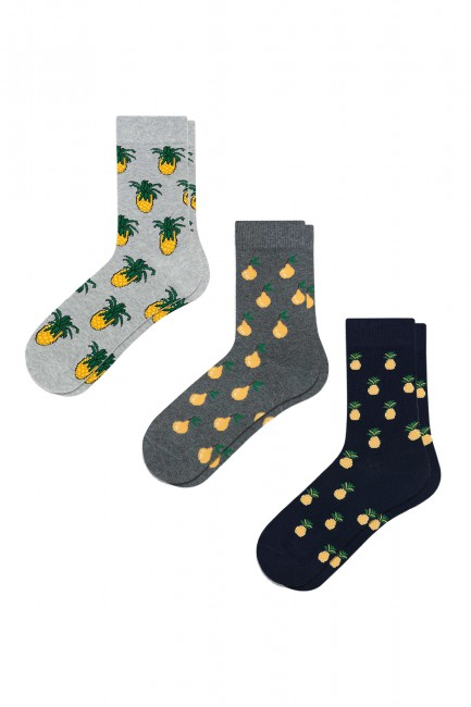 Bross - Bross 3'lü Meyve Desenli Erkek Çorabı