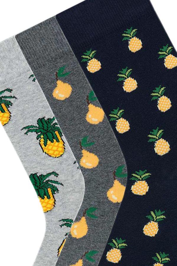 Bross 3'lü Meyve Desenli Erkek Çorabı