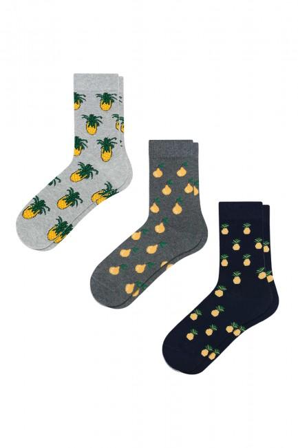 Bross - Bross 3-Pack Fruit Patterned Men's Socks
