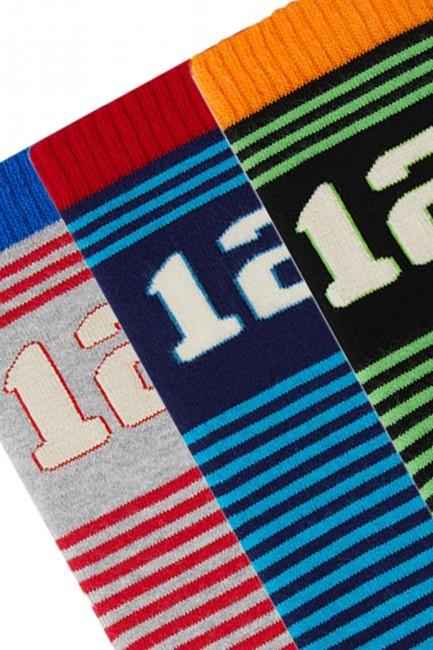 Bross 3'lü Rakamlı Havlu Çocuk Çorabı - Thumbnail