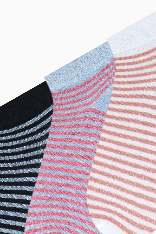 Bross 3'lü Simli Patik Kadın Çorabı
