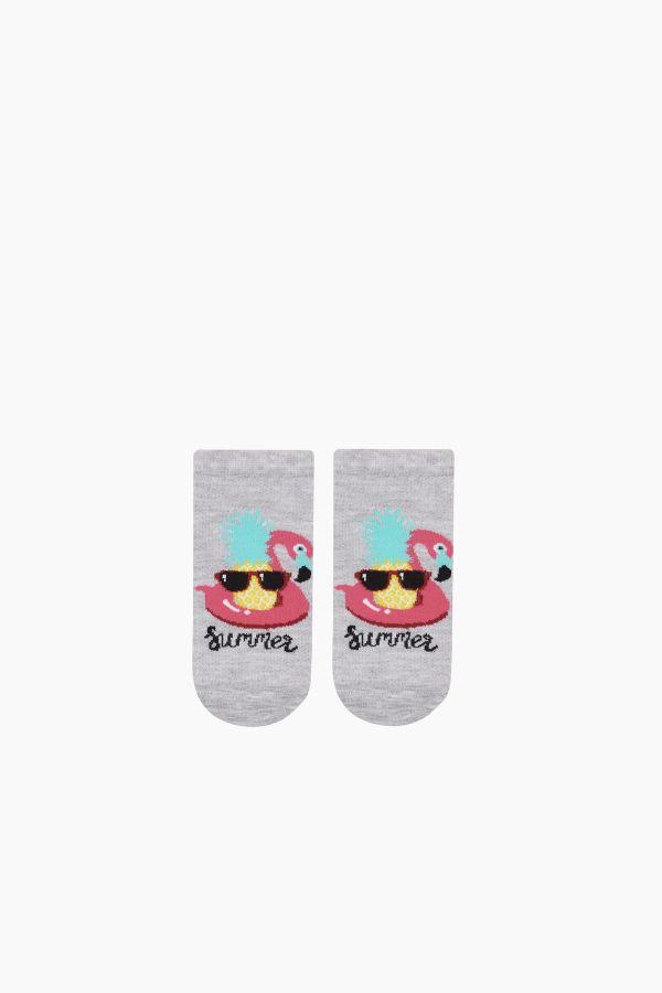 Bross 3'lü Summer Yazılı Patik Çocuk Çorabı