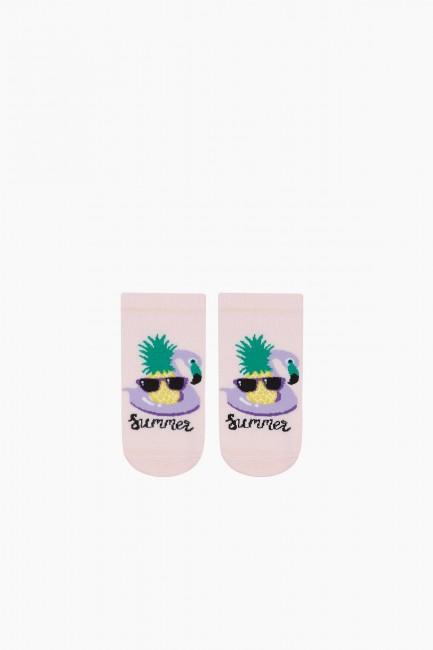 Bross 3'lü Summer Yazılı Patik Çocuk Çorabı - Thumbnail