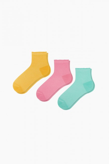 Bross - Bross 3'lü Yazlık Simli Kadın Çorabı
