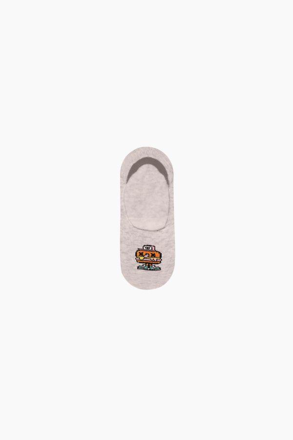 Bross 3'lü Yemek Desenli Babet Çocuk Çorabı