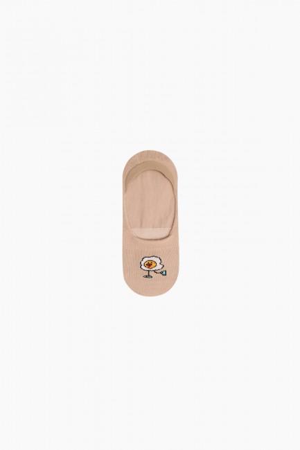 Bross 3'lü Yemek Desenli Babet Çocuk Çorabı - Thumbnail
