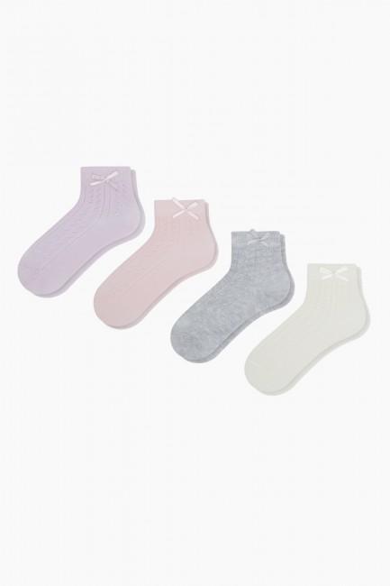Bross - Bross 4-Piece Bow Tie Accessory Net Baby Socks