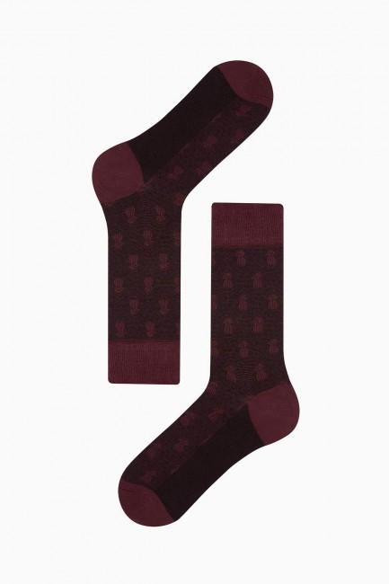 Bross 4'lü Ananas Desenli Jakarlı Erkek Çorabı - Thumbnail