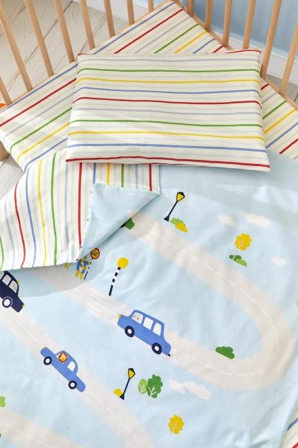 Bross Araba Desenli Bebek Nevresim Takımı - Thumbnail