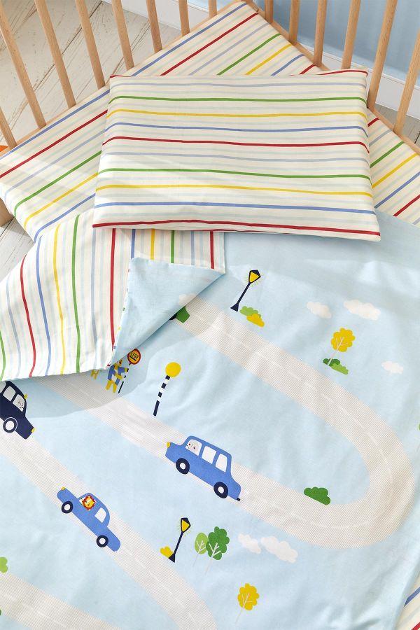 Bross Araba Desenli Bebek Nevresim Takımı