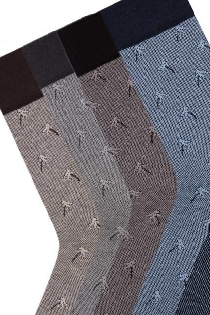 Bross 4'lü Palmiye Jakarlı Erkek Çorabı - Thumbnail